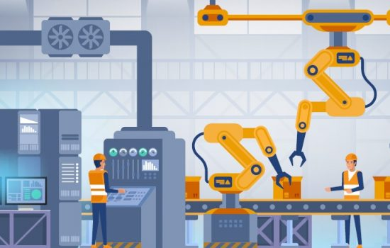 Smart Factory Digital Tools - Stock Image