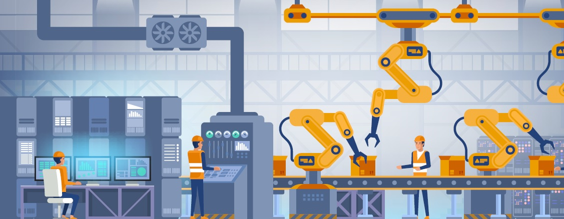 Smart Factory Smart Factories Digital Tools - Stock Image