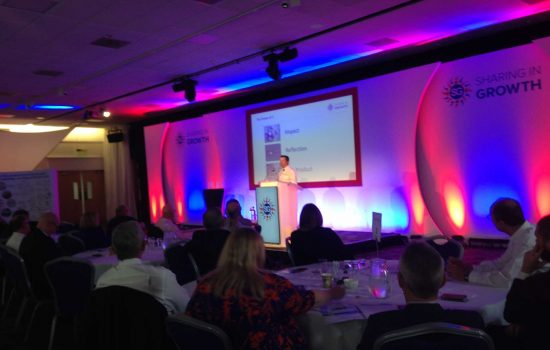 SiG's operations executive Malcolm James at the the SIG All Star Event in Nottingham.