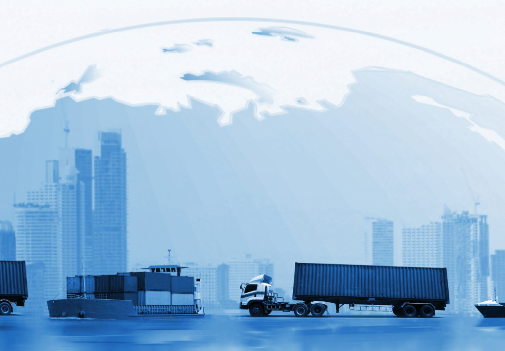 Supply Chain Logistics Global Trade Shipping Export Exporting - Stock
