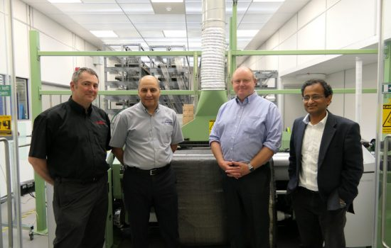 Engineers are working together at Sheffield Uni to drive forward capabilities for manufacturing composite components for the aerospace sectors - image courtesy of Sheffield Uni.