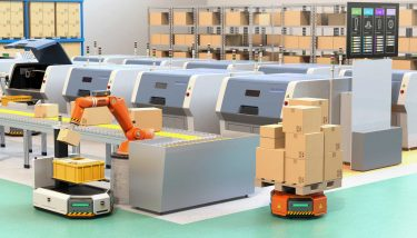 any warehouse vehicle can become an automated guided vehicle (AGV) by installing a robotic module - image courtesy of Depositphotos.