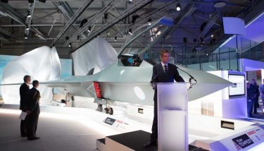 Gavin Williamson has unveiled a concept model of a brand-new next-generation fighter - image courtesy of BAE Systems.