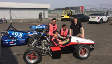City University are pictured just before the team\s car underwent scrutineering.