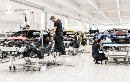 Each vehicle is hand-assembled at the McLaren Production Centre in Woking – image courtesy of McLaren Automotive.