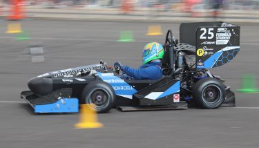 The University of Southampton's car is put through its paces - image courtesy Formula Student.