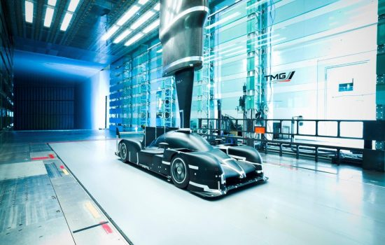 Toyota - The wind tunnel model of the Le Mans-winning TS050 HYBRID race car undergoing testing in one of TMG's wind tunnels - image courtesy of TMG.