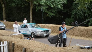 Look no hands! – Ford Mustang driving autonomously at the 2018 Goodwood Festival of Speed (Photograph: Nick Peters)