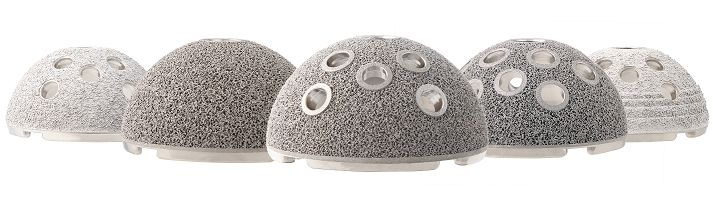 AM printed hip implants made from Titanium - image courtesy Stryker.