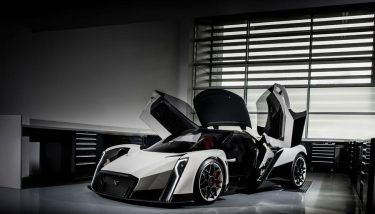 The design of the electric supercar is based on the flower, the vanda orchid.