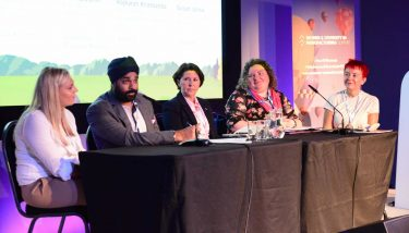 The day's first panel discussion debated how society and industry can overcome the barriers to achieving equality - image courtesy of The Manufacturer.