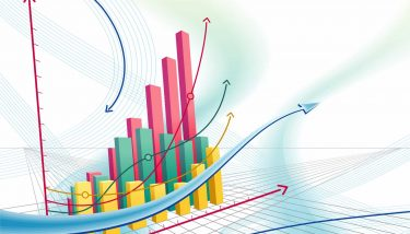 Abstract business graph demand volatility growth fall - image courtesy of Depositphotos.