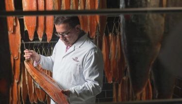 Fourth-generation smoked salmon producer, Lance Forman is pictured.