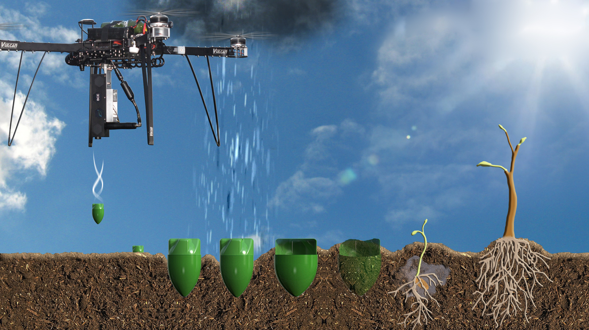The BCE system uses satellite and drone-collected data - image courtesy of BCE.