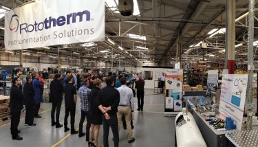 All staff come together twice a week to share lean best practices and techniques - image courtesy of British Rototherm.