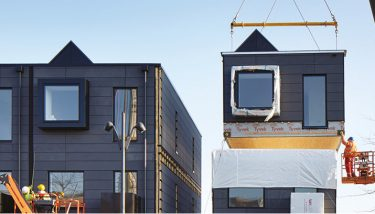 1, 2, 3… floors built in a day. The House concept in practice in Manchester - image courtesy of Urban Splash.
