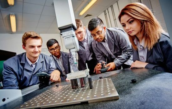 Apprentices at work at the MTC – image courtesy of The Manufacturing Technology Centre.