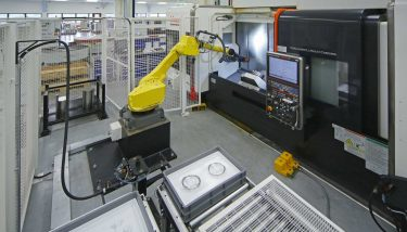 Robot Cell at Miskin - image courtesy of Renishaw.