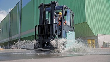 MCFE designs, manufactures, markets and supports three brands of forklift trucks, warehouse equipment and AGV – Mitsubishi, Cat® and Rocla - image courtesy of MCFE.