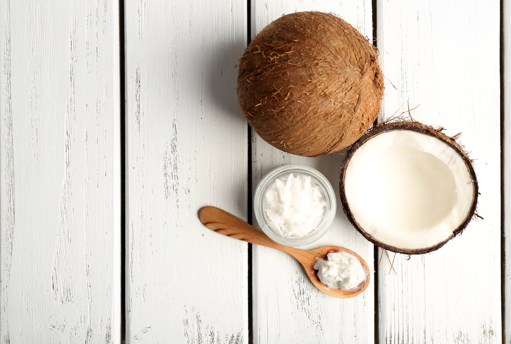 Coconut oil is an edible oil extracted from the kernel or meat of matured coconuts - image courtesy of Depositphotos.