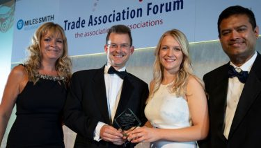 British Coatings Federation - Pictured is CEO Tom Bowtell (center left) as BCF pick up Trade Association of the Year 2018 - image courtesy of BCF.