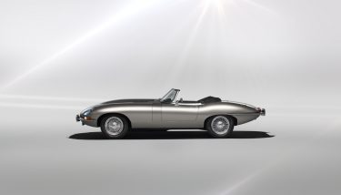 The British automotive giant, will sell original E-Types that have been restored and converted to run on battery power - image courtesy of JLR.