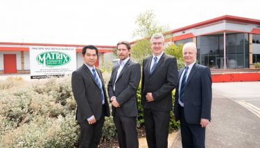 Pictured (Left to right): Nelson Chiow (Finance Director), Nick Holt, Paul Farndon (C.O.O), Mike Page (Manufacturing Director)