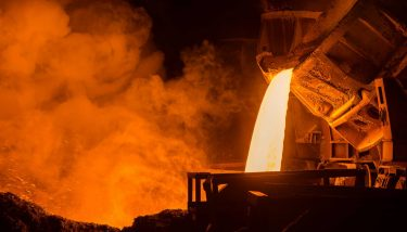 Steel plant steel foundry - image courtesy of Depositphotos.