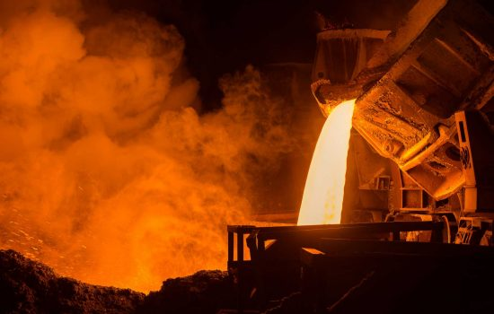UK Steel plant steel foundry - image courtesy of Depositphotos.