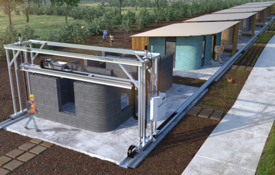 ICON's 3D printed house that can be built in 24 hours. image courtesy of ICON.