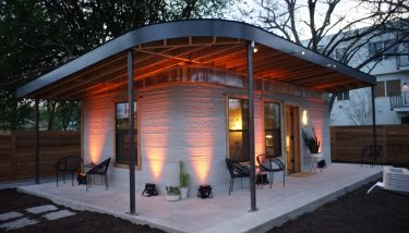 ICON's 3D printed house that can be built in 24 hours.