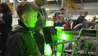More than 200 students were recently given a taste of modern manufacturing – image courtesy of Lambert Engineering.