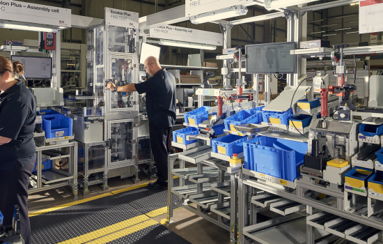 IMI's highly agile Lichfield production line for the Excelon Plus range of air preparation units.