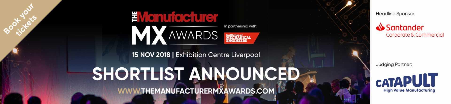 The Manufacturer MX Awards TMMX 2018 - Shortlist Announced Banner