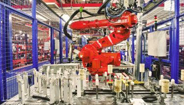 manufacturing factory robot automation UK productivity - STOCK