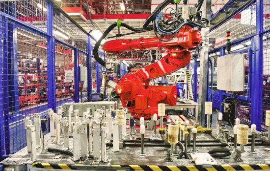 industrial robots - robot density manufacturing factory robot automation UK productivity - STOCK