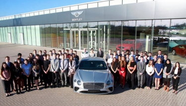 Bentley Motors has recruited a new intake of apprentices apprenticeships- image courtesy of Bentley.