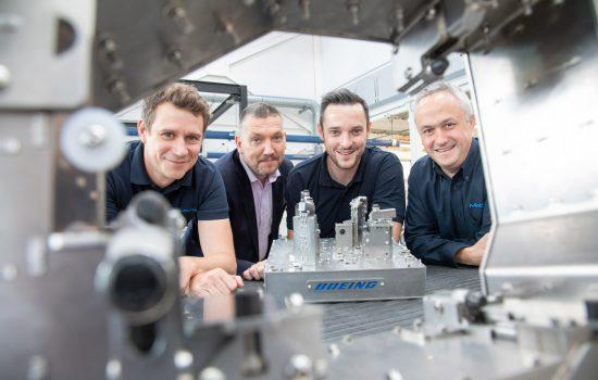 L to R: Sam Simpson (MetLase), Steve Dunn (MetLase), James Needham (Boeing Sheffield) & Richard Gould (MetLase).
