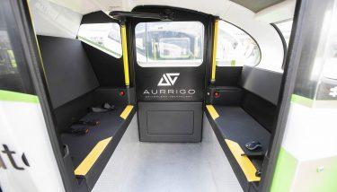 The inside of an Aurrigo pod.