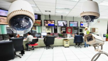 CCTV and security room background - image courtesy of Depositphotos.