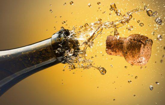 Champagne cork popping celebration awards winners celebrate stock image courtesy of Depositphotos