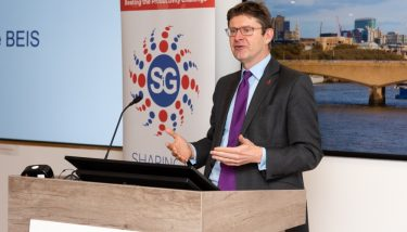 Business Secretary Greg Clarke speaking at the Sharing in Growth conference - image courtesy of SiG.