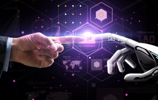 digital revolution Artificial Intelligence Industry 4.0 4IR Automation Robotics - Stock Image