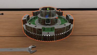 Virtual reality view of a part-assembled clutch from an IfM training research project - image courtesy of IfM.
