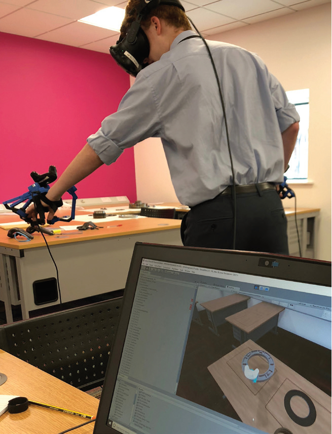 with force-feedback and a headset - image courtesy of IfM.