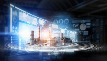 Concept of industrial digitalisation construction Industry 4.0 4IR Digital - image courtesy of Depositphotos.