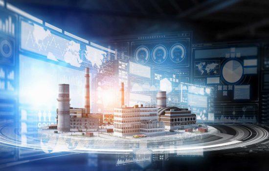 Concept of industrial digitalisation construction Industry 4.0 4IR Digital - image courtesy of Depositphotos.