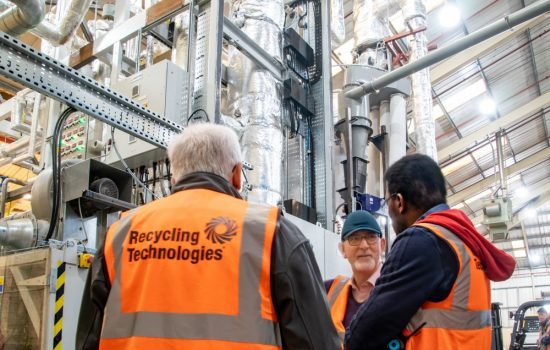 The Swindon-based company is able to recycle a broad range of waste plastics - image courtesy of Recycling Technologies.