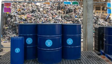 Each machine can recycle 7,000 tonnes of plastic waste a year - image courtesy of Recycling Technologies.
