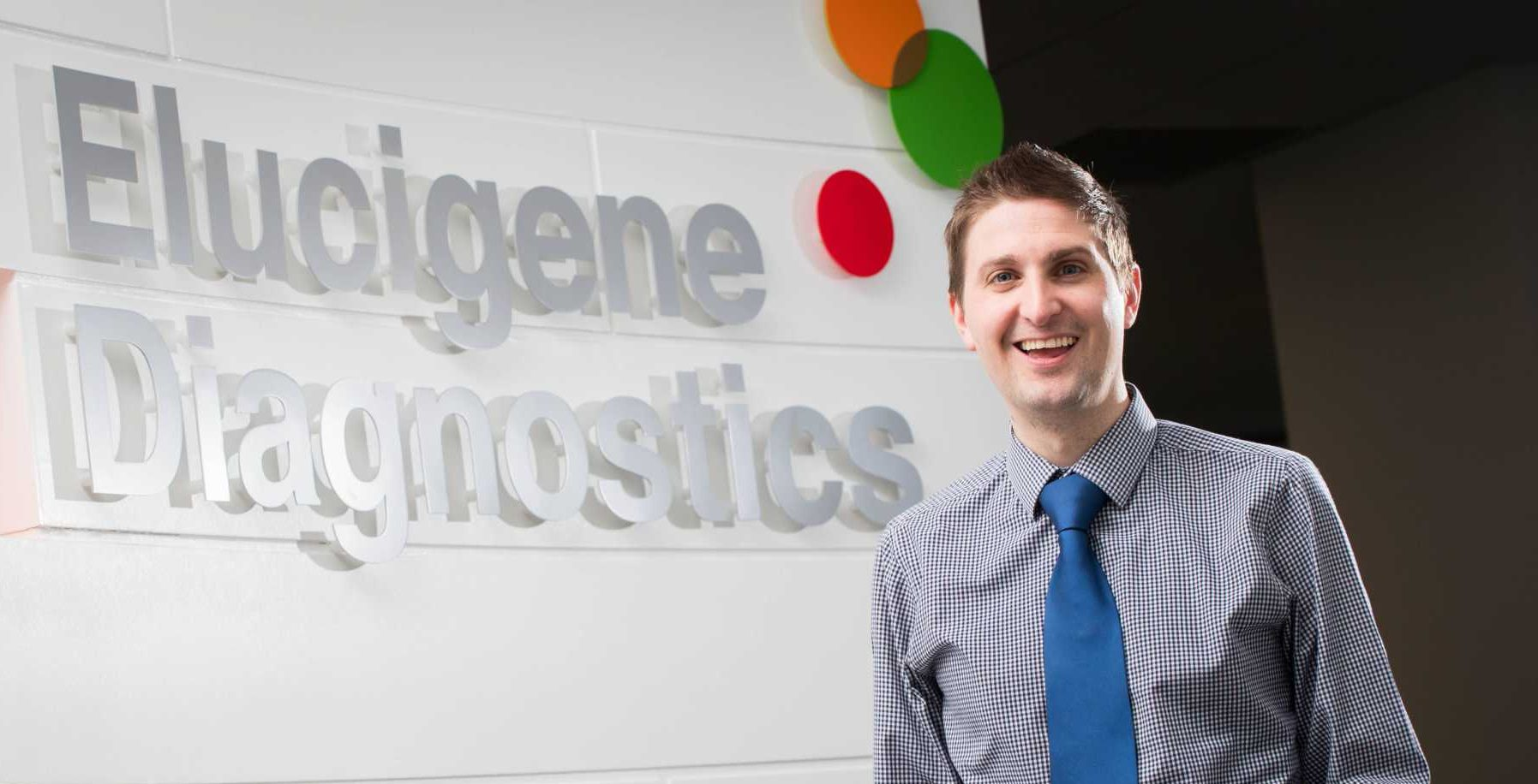 Mark Street-Docherty is pictured - image courtesy of Elucigene Diagnostics.